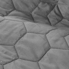 Narzuta w kolorze stalowym z pikowanym geometrycznym wzorem 220x240 cm - 220 X 240 cm - szary 4