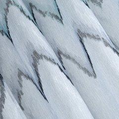 Srebrna zasłona z etaminy wzór w zygzak 140x250 na przelotkach - 140 X 250 cm - stalowy 1