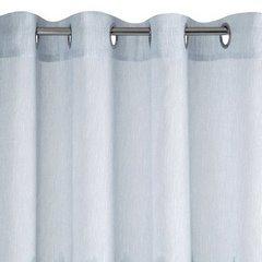 Srebrna zasłona z etaminy wzór w zygzak 140x250 na przelotkach - 140 X 250 cm - stalowy 6