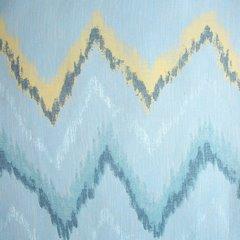 Niebieska zasłona z etaminy wzór w zygzak 140x250 na przelotkach - 140 X 250 cm - niebieski 4
