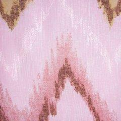 Różowa zasłona z etaminy wzór w zygzak  140x250 na przelotkach - 140x250 - Różowy 3