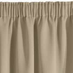 Zasłony ZACIEMNIAJĄCE to doskonała propozycja do salonu czy sypialni. Uszyte z materiału typu blackout zasłony zatrzymują większość światła słonecznego lub uciążliwy blask nocnego oświetlenia. Gruba, mięsista tkanina daje również efekt wyciszenia hałasów dobiegających z zewnątrz. Zasłony ZACIEMNIAJĄ - 140 X 270 cm - beżowy 2