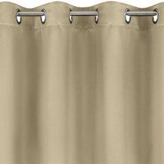 Gładka zasłona beżowa 135x250 na przelotki - 140 X 250 cm - beżowy 2