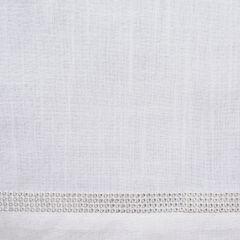 Naturalny bieżnik z lamówką cyrkonii jadalnia 35x140 cm - 35 X 140 cm - biały/srebrny 3