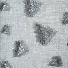 Zasłona w kolorze STALOWYM ze srebrnymi akcentami przelotki 140x250 cm - 140x250 - Stalowy 1