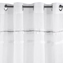 Zasłona biała z tradycyjnymi akcentami przelotki 140x250 cm - 140 X 250 cm - biały 3