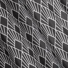 Zasłona w kolorze stalowym z białym wzorem przelotki 140x250 cm  - 140 X 250 cm - stalowy 2