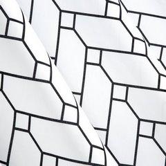 Nowoczesne zwiewne ZASŁONY w jodełkę nap przelotkach - 140x250 - czarny, biały 2