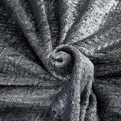 Miękki koc z mikroflano stalowy ze srebrnym 170x210 cm - 170 X 210 cm - ciemnoszary/srebrny 5