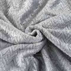 Miękki koc z mikroflano szary ze srebrnym 170x210 cm - 170 X 210 cm - jasnoszary/srebrny 5