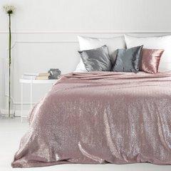 Miękki koc z mikroflano różowy 200x220 cm - 200 x 220 cm - różowy/srebrny 1