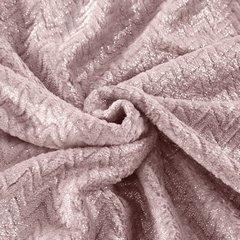 Miękki koc z mikroflano różowy 200x220 cm - 200 x 220 cm - różowy/srebrny 5