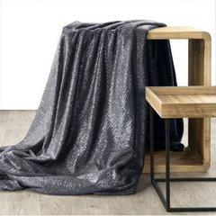 Miękki koc z mikroflano stalowy ze srebrnym 200x220 cm - 200 x 220 cm - ciemnoszary/srebrny 2