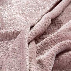 Miękki koc z mikroflano różowy 70x160 cm - 70 X 160 cm - różowy/srebrny 4