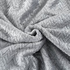 Miękki koc z mikroflano szary ze srebrnym 70x160 cm - 70 X 160 cm - jasnoszary/srebrny 3