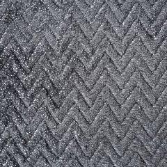 BETH STALOWY KOC Z MIKROFLANO TŁOCZONY W JODEŁKĘ 70x160 cm DESIGN91 - 70 X 160 cm - ciemnoszary/srebrny 3
