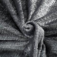 BETH STALOWY KOC Z MIKROFLANO TŁOCZONY W JODEŁKĘ 70x160 cm DESIGN91 - 70 X 160 cm - ciemnoszary/srebrny 5