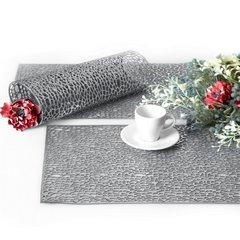 Srebrna ażurowa podkładka stołowa 46x30,5 cm - 46 X 30 cm - srebrny 5