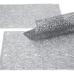 Srebrna ażurowa podkładka stołowa 46x30,5 cm - 46 X 30 cm - srebrny 2