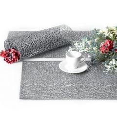 Srebrna ażurowa podkładka stołowa 46x30,5 cm - 46 X 30 cm - srebrny 3