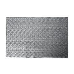 Ażurowa podkładka stołowa srebrna wzór geometryczny 45x30 cm - 45 X 30 cm - srebrny 1