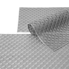 Ażurowa podkładka stołowa srebrna wzór geometryczny 45x30 cm - 45 X 30 cm - srebrny 2