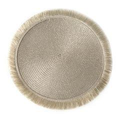 Szampańska podkładka stołowa okrągła średnica 38 cm - ∅ 38 cm - jasnozłoty 1