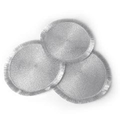 Srebrna podkładka stołowa okrągła średnica 38 cm - ∅ 38 cm - popielaty 2