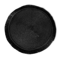 Czarna podkładka stołowa okrągła średnica 38 cm - ∅ 38 cm - czarny 1