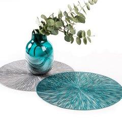Okrągła podkładka stołowa ażurowa srebrna średnica 38 cm - ∅ 38 cm - srebrny 3