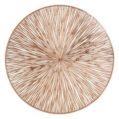 Okrągła podkładka stołowa ażurowa miedziana średnica 38 cm - ∅ 38 cm - miedziany 1
