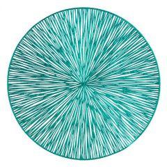 Okrągła podkładka stołowa ażurowa turkusowy średnica 38 cm - ∅ 38 cm - turkusowy 1