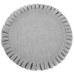 Okrągła podkładka stołowa z falbaną srebrny 38 cm - ∅ 38 cm - popielaty 1