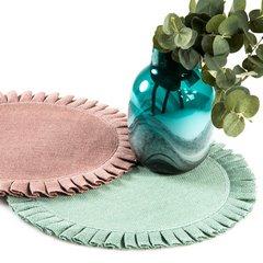 Okrągła podkładka stołowa z falbaną różowy 38 cm - ∅ 38 cm - różowy 2
