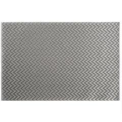 Strukturalna podkładka stołowa w zygzak stalowy szary 30x45 cm - 30 X 45 cm - stalowy 1