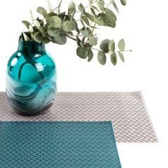 Strukturalna podkładka stołowa w zygzak stalowy szary 30x45 cm - 30 X 45 cm - stalowy 3