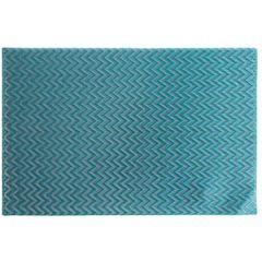Strukturalna podkładka stołowa w zygzak niebieska 30x45 cm - 30 X 45 cm - niebieski 1