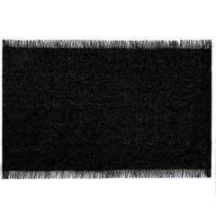 Czarna podkładka stołowa z frędzlami 30x45 cm - 30 X 45 cm - czarny/srebrny 1