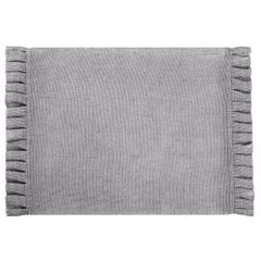 Srebrna podkładka stołowa z falbaną 30x45 cm - 30 X 45 cm - popielaty/srebrny 1