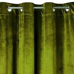 Zasłona welwetowa na przelotkach oliwkowa 140x250 - 140 X 250 cm - oliwkowy 3
