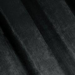 TAYLOR GRAFITOWA ZASŁONA Z BŁYSZCZĄCEGO WELWETU NA PRZELOTKACH 140x250 DESIGN91 - 140 X 250 cm - grafitowy 2
