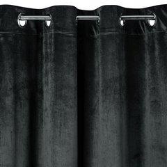 Zasłona welwetowa na przelotkach grafitowa 140x250cm - 140 X 250 cm - grafitowy 3