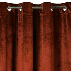 Zasłona welwetowa na przelotkach ceglasta 140x250 - 140 X 250 cm - pomarańczowy 3