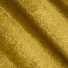Musztardowa ZASŁONA WELWETOWA z brokatem na przelotkach 140x250 cm - 140X250 - musztardowy 2