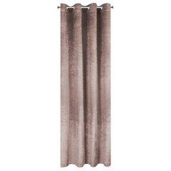 Pudrowa ZASŁONA WELWETOWA z brokatem na przelotkach 140x250 cm - 140X250 - pudrowy 7