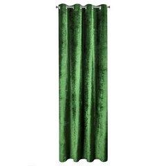 ELIZIA ZIELONA ZASŁONA Z WELWETU Z BŁYSZCZĄCYMI DROBINKAMI NA PRZELOTKACH 140x250 cm EUROFIRANY - 140 X 250 cm - zielony 5
