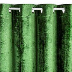 Zielona zasłona welwetowa z brokatem na przelotkach 140x250 cm - 140 X 250 cm - zielony 6