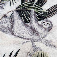 Miękki koc z mikroflano motyw egzotycznych zwierząt 150x200 cm - 150 X 200 cm - biały/zielony/grafitowy 4