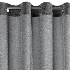 Delikatna ZASŁONA ZE SREBRNĄ NICIĄ czarna na przelotkach - 140x250 - Czarny, Srebrny 3