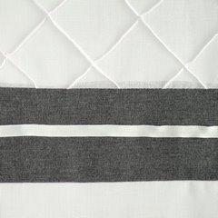 Nowoczesna firana z lamówką biel stal na przelotkach 140x250 - 140 X 250 cm - biały 4